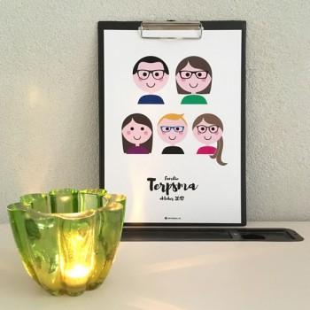Familieportret - Gepersonaliseerd