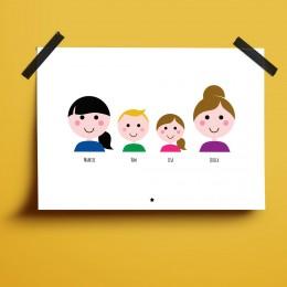 Familieposter - Met namen en/of datums