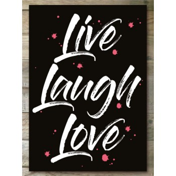 Ansichtkaart - Live Laugh Love