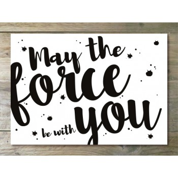Ansichtkaart - May the force be with you