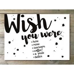 Ansichtkaart - Wish you were....