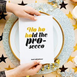 Kerstkaart - Hold the Prosecco