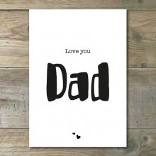 Ansichtkaart - Love you Dad