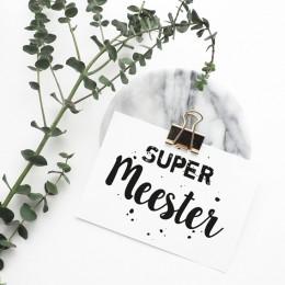 Ansichtkaart - Super Meester