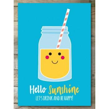 Ansichtkaart - Hello Sunshine