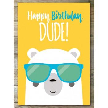 Ansichtkaart - Happy Birthday Dude