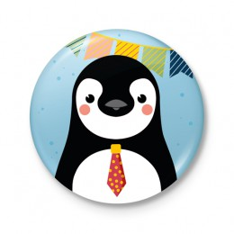 Button 43 mm - FEEST! Pinguin