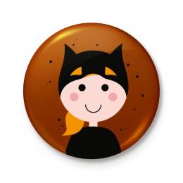 Button 43 mm - Halloween Supergirl