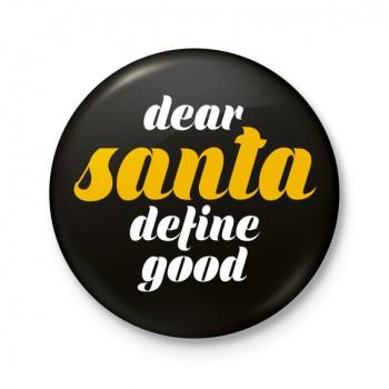 Button 43 mm - Dear Santa