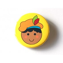 Button 43 mm - Sinterklaas: Piet