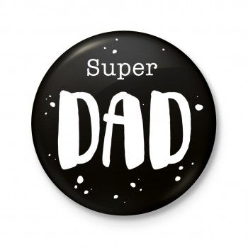 Button 43 mm - Super dad