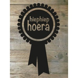 Flockfolie hiephiep - Badge
