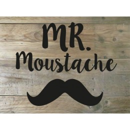 Flockfolie tekst - Mr. Moustache