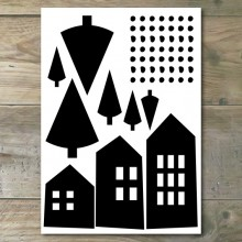 Muurstickers - Moderne Huisjes 2