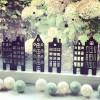 Muurstickers - Klassieke Huisjes 1