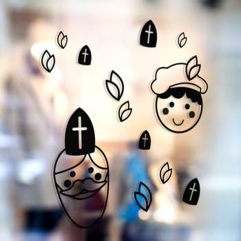 Muurstickers - Sint en Piet