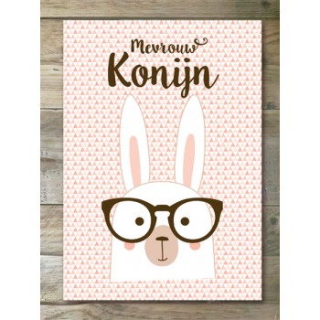 Poster - Mevrouw Konijn