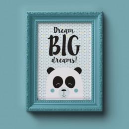Poster - Panda/jongens