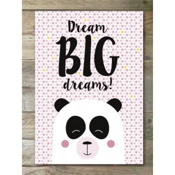 Poster - Panda/meisjes