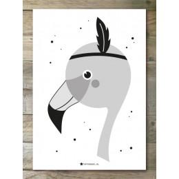 A4 Poster - Flamingo