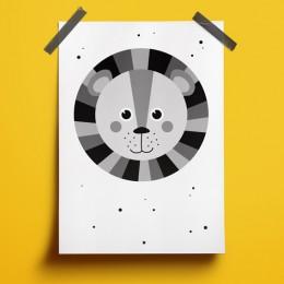 A4 Poster - Leeuw