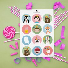 A5 Stickers - Feest