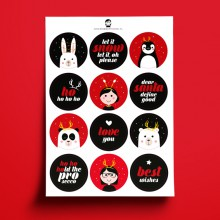 A5 Stickers - KERST