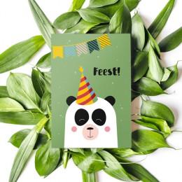Uitnodiging - Panda - 5 stuks